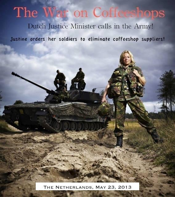 In Tilburg wurde erstmals die Armee gegen das legale Cannabusiness eingesetzt. Foto: Facebook/Coffeeshopnieuws